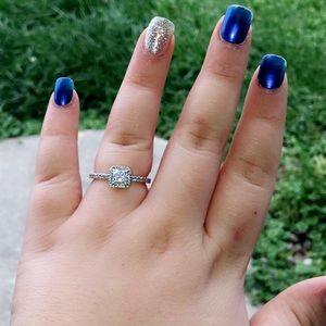 Square Pandora silver ring size 9